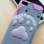 ぷにぷに肉球付きiPhone5用ケース(ねこむらおたこ)を購入!